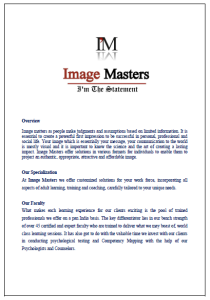 Image masters pg1